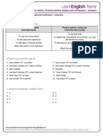 Gs Present Perfect Simple and Continuous - Answers 0
