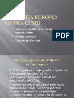 Dominaţia Europei Asupra Lumii