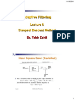 Lecture 6 (ADAPTIVE FILTERS)