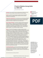 Prevalence of and Trends in Diabetes Among Adults in the United States