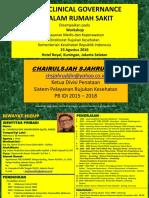 Presentasi Workshop Kemkes 23 Agustus 2016 Clinical Governance