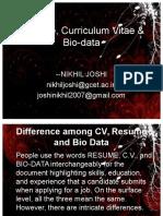 Unit II- Curriculum Vitae