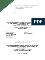 Sistema Automatizada Para Solicitudes de Mantenimiento y Reparación de Equipos de Computación de La Contraloría Del Estado Bolivar