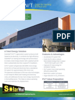 SolarWallPV-T is a solar co-generation system that produces both solar heated air & PV electricity