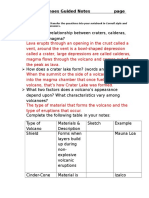 volcano guided notes