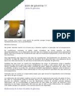 Elaborar Base de Jabón de Glicerina
