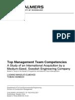Top Management Team Competencies