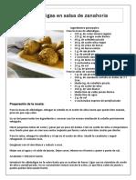 Albóndigas en salsa de zanahoria (Martin Berasategui)