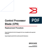 Docu9424 Brocade Fabric OS Control Processor Blade (CP8) Replacement Procedure