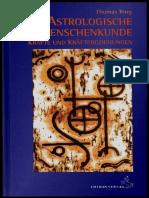 Astrologische Menschenkunde Band 1 Thomas Ring