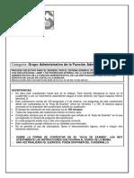 Examen Grupo Funcion Administrativa SESCAM 08-11-2009