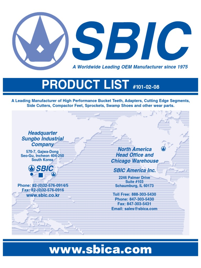 Production List SBIC | Construction Equipment | Industrial Equipment