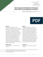 El diseño del presupuesto participativo en Venezuela