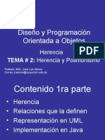 Herencia en Programación Orientada a Objetos (POO)