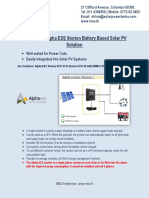 Alpha ESS Storion Battery Based Solar PV Solutions
