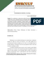 INVESTIMENTO E POLÍTICA CULTURAL