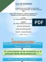 Diapositivas Relacion Gestion Del Conocimiento y Convivencia Organizacional