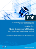 JBI Critical Appraisal-Checklist for Quasi - Experimental Studies