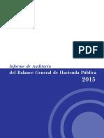 Informe de Auditoría del Balance General de Hacienda Pública  2015