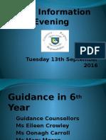 LC2 Parent Information Evening Sept 2016