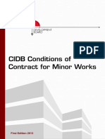 CIDB Conditions of Contract