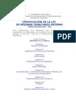 Codificacion de La Ley de Regimen Tributario Interno