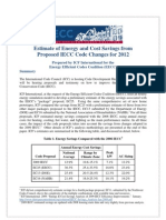 ICF Savings Analysis Major IECC Proposals