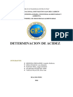 Determinaciones de Acidez y PH
