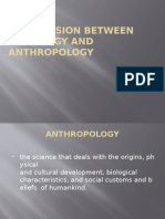 Comparision Between Sociology and Anthropology