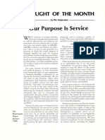 Our Purpose is Service by Gary L. Stewart, F.R.C., Imperator