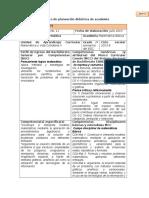 Formato de Planeación Didáctica de Academia
