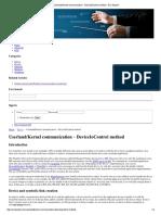 Kernel Communication – DeviceIoControl Method