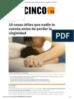 10 Cosas Útiles Que Nadie Te Cuenta Antes de Perder La Virginidad _ F5 _ EL MUNDO