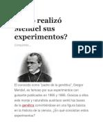 Cómo Realizó Mendel Sus Experimentos Parte 2