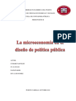 La Microeconomia en El Diseño de Politica Publica
