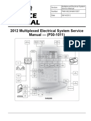 paccar 2010 multiplexed electrical system sevice manual (p30 79 Mustang Wiring Diagram