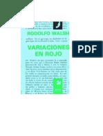 Walsh Rodolfo - Variaciones en Rojo