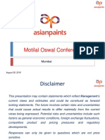Motilal Oswal Conference - August 2016