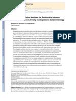 Abravanel2015 - Emotion Dysregulation Mediates the Relationship Between Lifetime Cumulative Adversity and Depressive Symptomatology