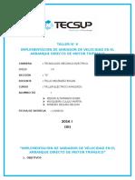 TALLER N° 6 IMPLEMENTACION DE VARIADOR DE VELOCIDAD