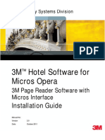 3M Hotel Software for Micros Opera Installation Guide