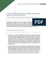 Conclusiones de Las Jornadas de Presidentes de Tribunales Superiores de Justicia de España 17 Al 19 Oct 2016