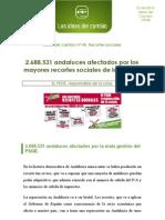 Recortes sociales del PSOE