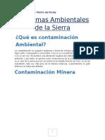 Problemas Ambientales de La Sierra Diego