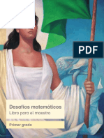Primaria Primer Grado Desafios Matematicos Libro Para El Maestro Libro de Texto