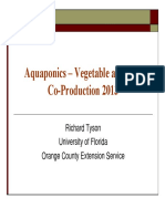 Aquaponics Vegetable and Fish Co Production 2013