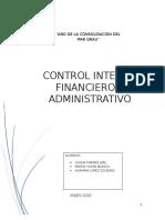 Control Interno Finaciero y Administrativo