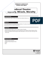 Emergency Lesson Plan Medieval Theatre