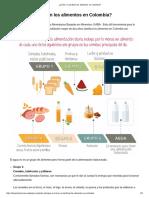 ¿Cómo Se Clasifican Los Alimentos en Colombia?