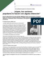 Gabriel Di Meglio - Cuando Participan, Los Sectores Populares Lo Hacen Con Alguna Intención (Página 12 - 24.05.2010)